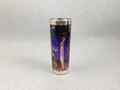 Metallic siliver  Shooter glass mug  with sublimation coating