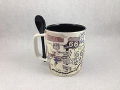 15oz  spoon mug ,Square handle  mug