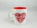11oz  mug  with red color   laser logo