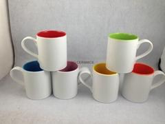 11oz  Sublimation inner color mug ,new mug shape