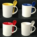 11oz inner color spoon  mug
