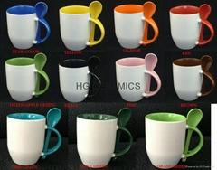 11oz sublimation spoon mug