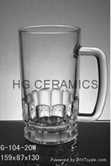 22oz Glass beer steins