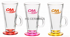 Latte glass coffee mug