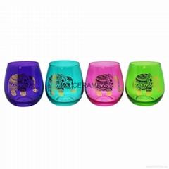 Colored whisky glass mug