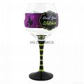 Wine glass mug  with  diamond