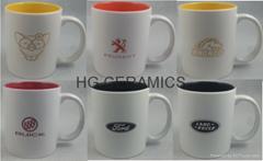 11oz Spray white  color mug with laser logo