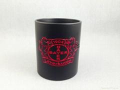 11oz matte finished mug with laser logo  , color change laser logo