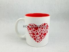 11oz mug with laser color  logo