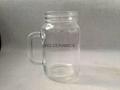 16oz Sublimation Mason jar ,Round  shape ,with handle