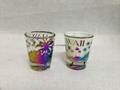 HAWAII design glass mug , white color glass mug , plating mug
