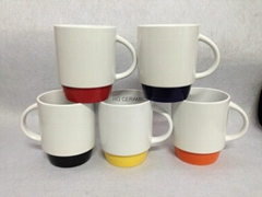 Stackable mug with color bottom