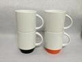12oz ceramic mug with color bottom