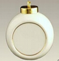 Sublimation  ceramic christmas bell (half shape ) with aluminium plate