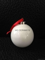Sublimation  ceramic christmas bell round shape