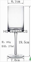 Sublimation Wine Glass, Glass Goblet, 275ml