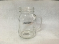 20oz  Glass mason jar with gold logo