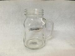 20oz  Glass mason jar with gold logo
