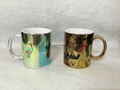 Sublimation gold mug , silver mug