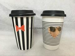 11oz double wall mug with decal printing