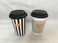 11oz double wall mug with decal printing  . thermal ceramic mug