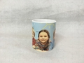 11oz Sublimation white mug with gold /silver handle
