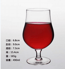 490ml  Glass mug  , Red wine glass , goblet