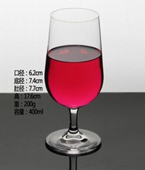 400ml  Glass mug  , Red wine glass , goblet