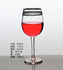 280ml  Glass mug  , Red wine glass , goblet