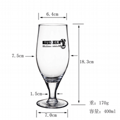 400 ml  Glass mug  , Red wine glass , goblet