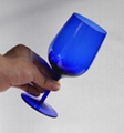 Blue color  glass mug  , Red wine glass , goblet