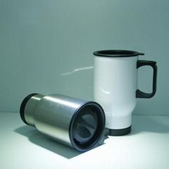 Stainless steel travel mug, sublimation coated,Car mug