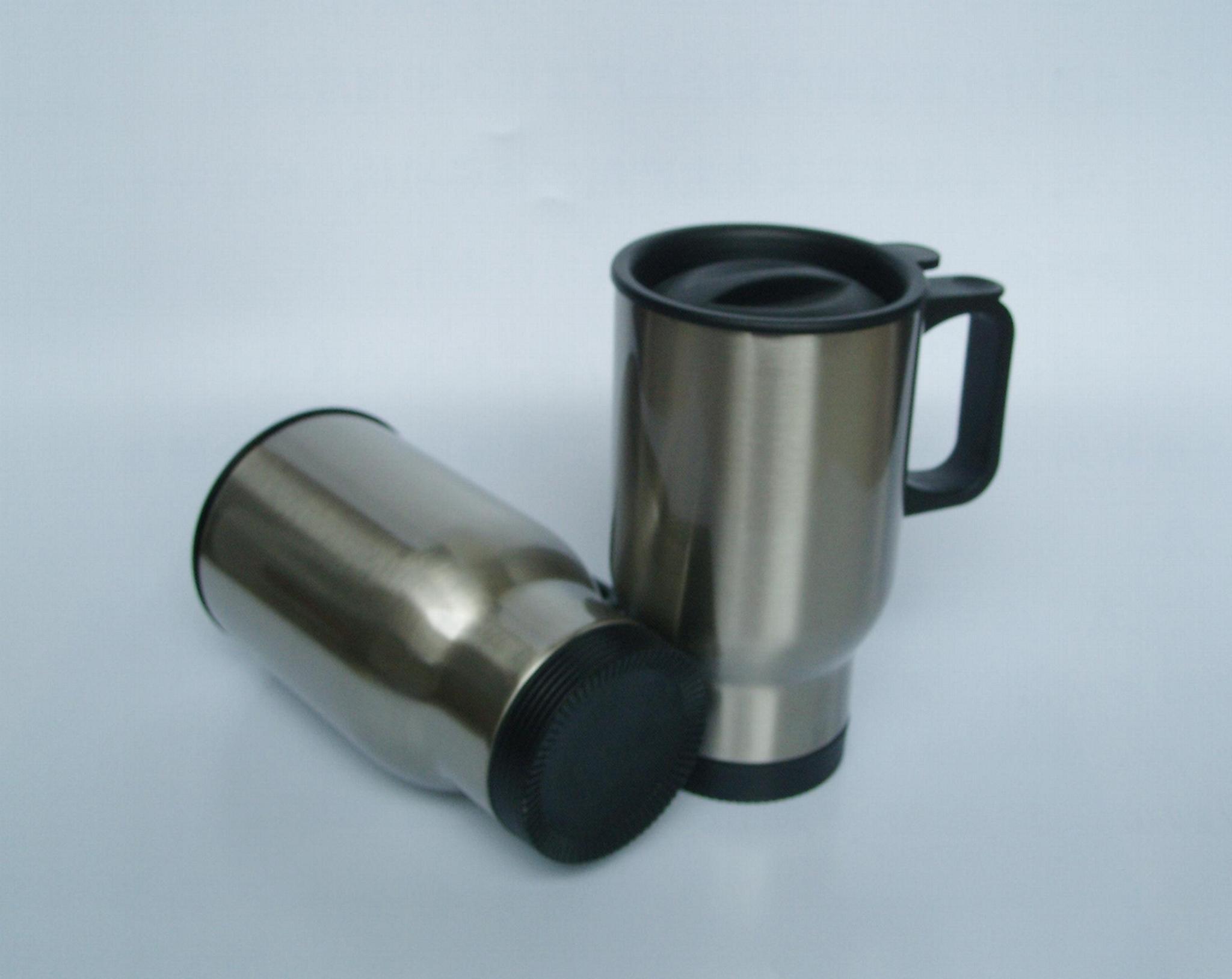 Stainless steel travel mug, sublimation coated,Car mug  3