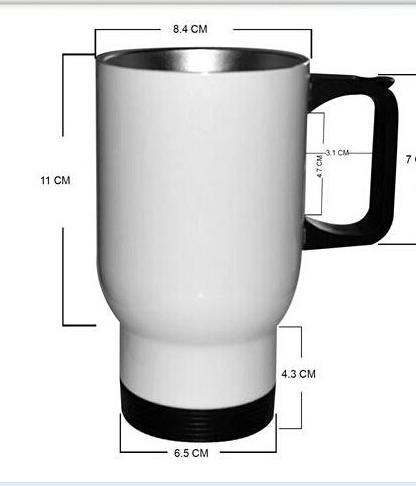 Stainless steel travel mug, sublimation coated,Car mug  6