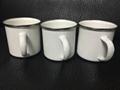 8cm Sublimation enamel cup , silver rim