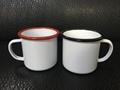 8cm Sublimation enamel cup , color rim