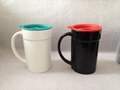 16oz Ceramic mug  with plastic lid