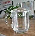 10oz  Sublimation clear glass mug with