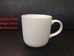 15oz inner glossy outside matte finished white mug