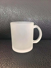 15oz Sublimation glass mug ,frosted
