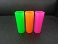 Neon color shooter glass