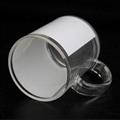 11oz Sublimation clear glass mug  with