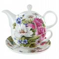 Bone China Tea for one set with saucer
