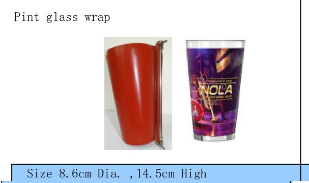 Pint glass wrap 1