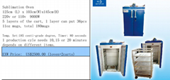 Sublimation oven