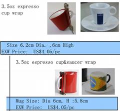 Espresso cup wrap