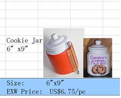 Ceramic cookie jar wrap