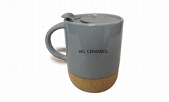 Ceramic Mug with Cork Bottom