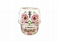 Ceramic Skull mug ,White  color