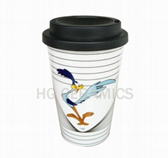 12oz double wall takeaway cup, PP material